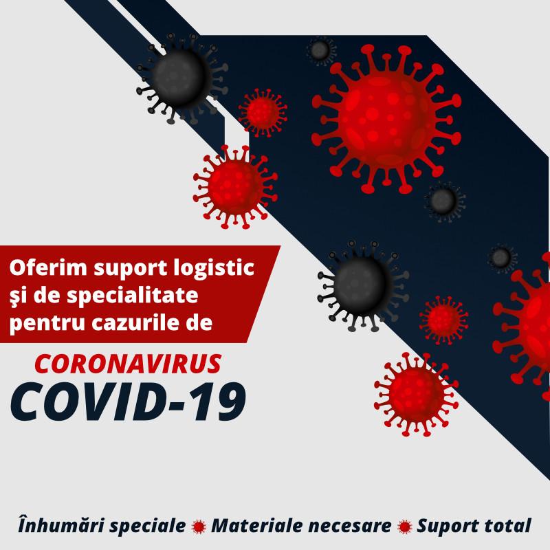 Oferim suport logistic și de specialitate pentru cazurile de Coronavirus COVID-19